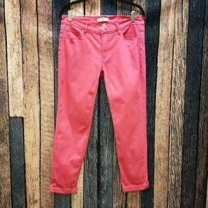 Vivid Pink Weekend Crop Jeans